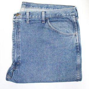 Men's Wrangler Rustler Denim Blue Jeans 46 x 30